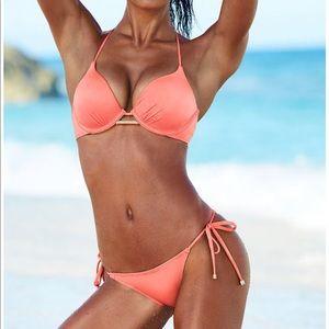 Victoria's Secret Peach Bombshell Bikini 34B Push